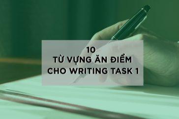 10 TỪ VỰNG ĂN ĐIỂM CHO IELTS WRITING TASK 1