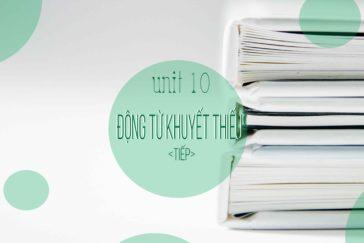 UNIT 10: ĐỘNG TỪ KHUYẾT THIẾU TRONG TIẾNG ANH (TIẾP)
