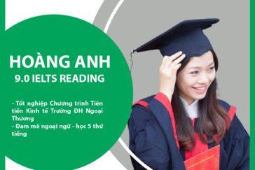 Cô Hoàng Anh – 9.0 IELTS Reading