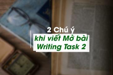 2 Chú ý khi viết Mở bài Writing Task 2