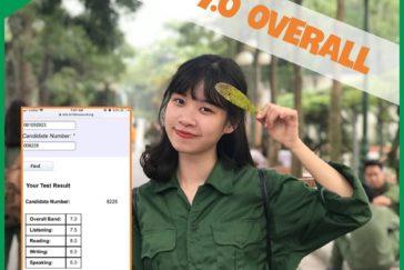 Bạn Nguyễn Phúc Huệ – 7.0 IELTS OVERALL