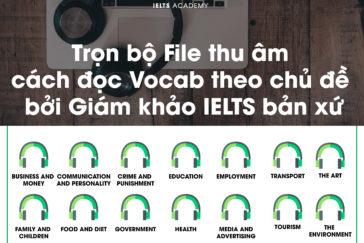 Trọn bộ File thu âm Cách đọc Vocab theo chủ đề bởi Giám khảo IELTS