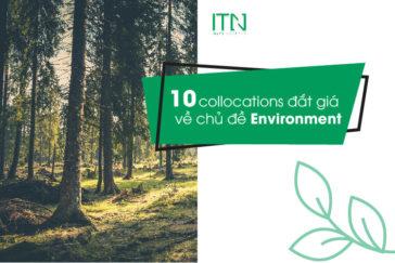 10 collocations đắt giá về chủ đề Environment