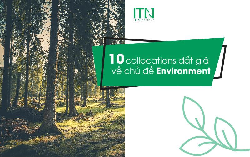 10 Collocations về chủ đề environment