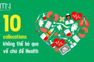 10 Health collocations không thể bỏ qua về chủ đề sức khỏe