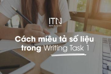 Cách miêu tả số liệu trong Writing Task 1