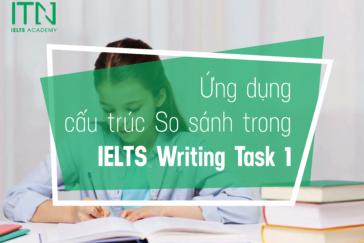 ỨNG DỤNG CẤU TRÚC SO SÁNH VÀO IELTS WRITING TASK 1