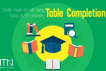 Chiến Thuật Chi Tiết Dạng Bài Table Completion Trong IELTS Listening