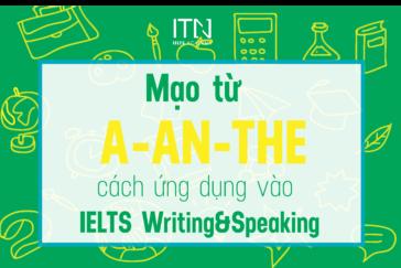 MẠO TỪ VÀ CÁCH ỨNG DỤNG VÀO IELTS WRITING VÀ SPEAKING
