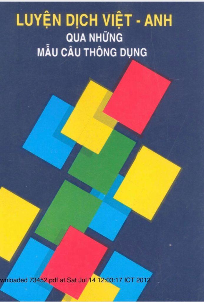 Luyện dịch Việt- Anh qua những mẫu câu thông dụng