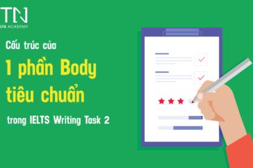 Cấu Trúc Của 1 Phần Body Tiêu Chuẩn Trong IELTS Writing Task 2